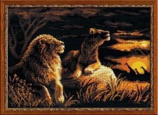 Значение вышивки львы